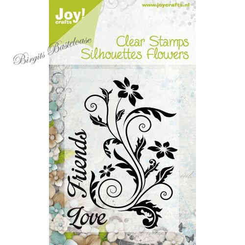 JoyCrafts Clear Stamps Silhouettes Flowers Schnörkel 0091