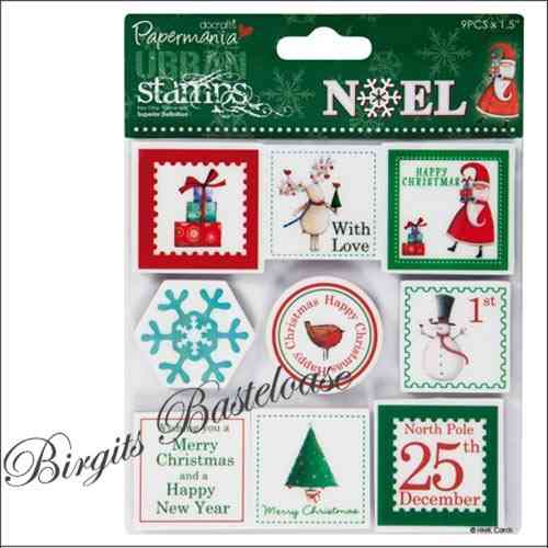 Cling Mounted Stamps Noel Weihnachten 905 docrafts