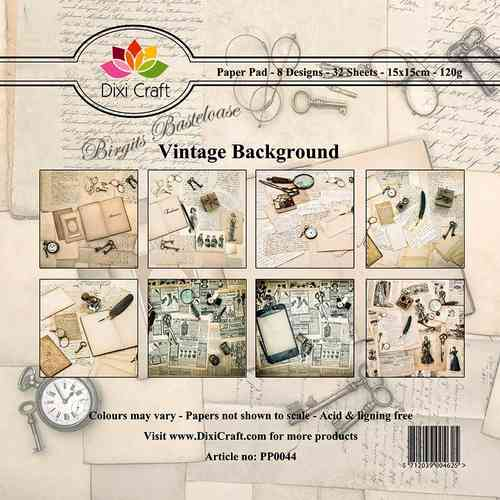 Dixi Craft Design Papier Vintage Background 15x15 Paper 44