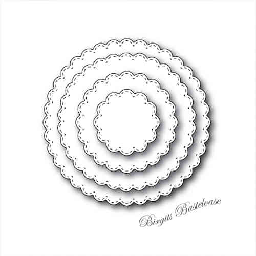 Memory Box Stanzschablone Stitched Scalloped Circles 30047