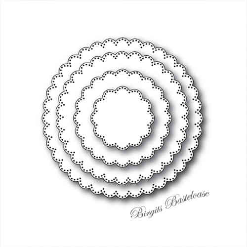 Memory Box Stanzschablone Pinpoint Scalloped Circles 30050