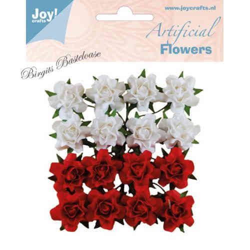 Joy!Crafts Paper Flowers Papier Rosen rot weiß 0067