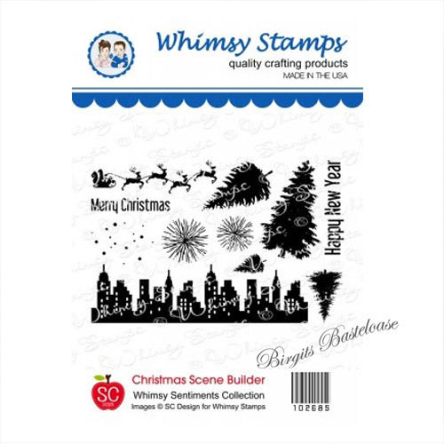 Whimsy Stamps Christmas Scene Builder 10268S