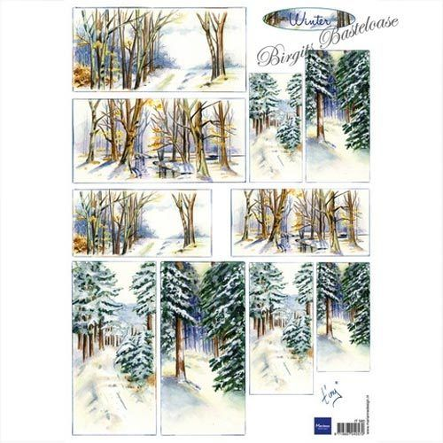 Motivbogen Tinys Winter Wald Weihnachten IT580