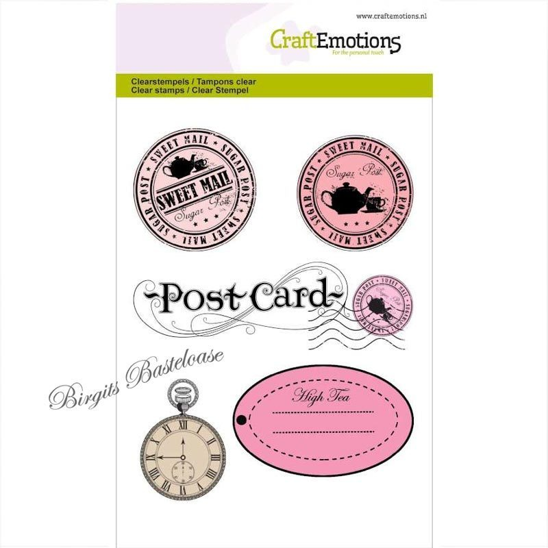 clear stamps uhr postcard 1066 runde stempel g nstig kaufen. Black Bedroom Furniture Sets. Home Design Ideas