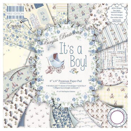 First Edition It's a Boy 15 x 15 Paper Pad Baby 077