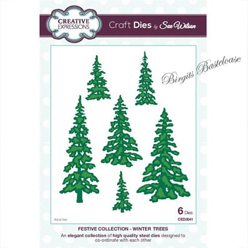 Creative Expressions Winter Trees Stanzschablone Tanne CED3041