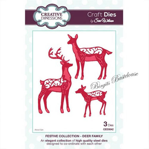 Creative Expressions Deer Family Stanzschablone CED3042