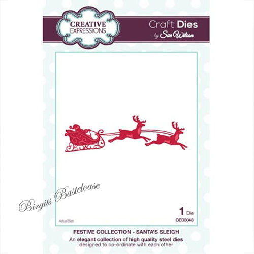 Creative Expressions Santa's Sleigh Stanzschablone CED3043