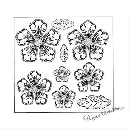 Creative Expressions Cling Stamp Shaded Peony UMS633