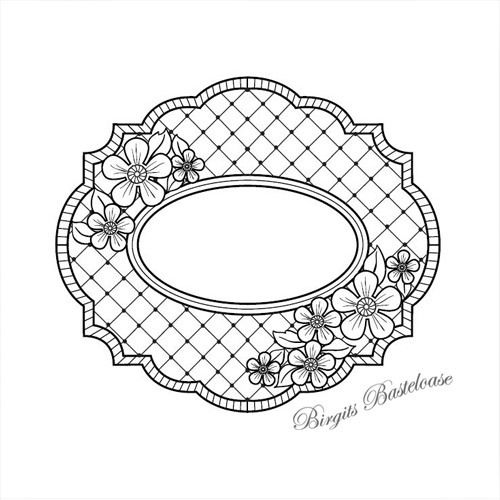 Creative Expressions Cling Stamp Camellia Trellis UMS587