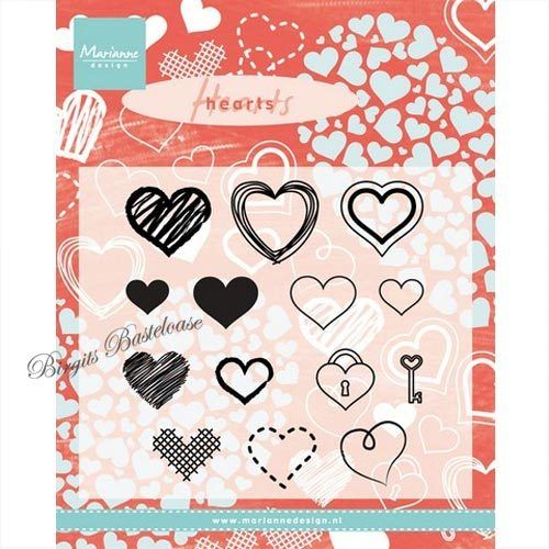 Marianne Design Clear Stamps Herzen CS0950
