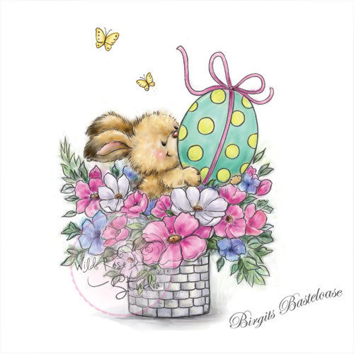Wild Rose Studio Clear Stamp Easter Bunny Osterhase CL486