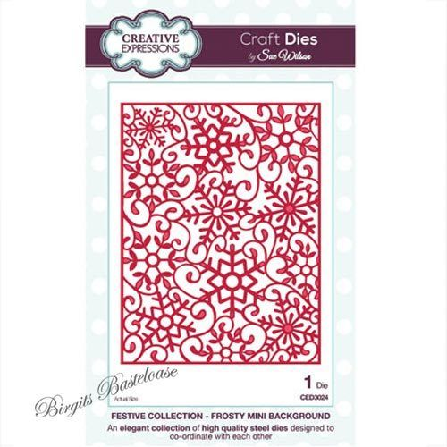 Creative Expressions Frosty Mini Backgr. Stanzschablone 3024