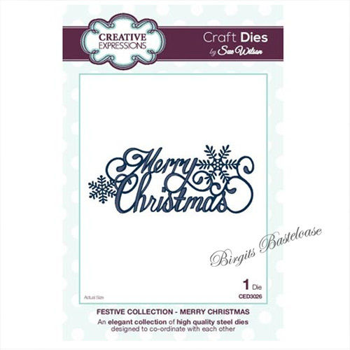 Creative Expressions Merry Christmas Stanzschablone CED3026