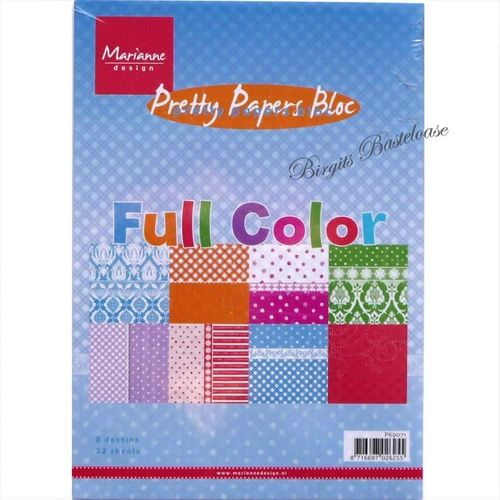 Marianne design Papier Full Color A5 Paper bloc PK9071