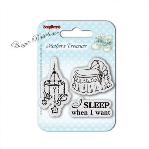 ScrapBerry's Clear Stamps Baby Babybett Mobile 7026