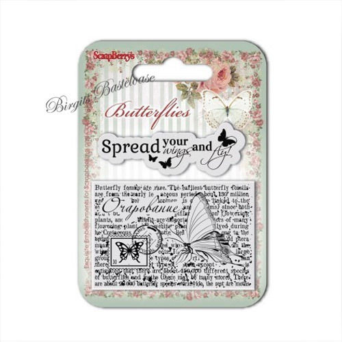 ScrapBerry's Clear Stamps Butterflies Schmetterling 7003