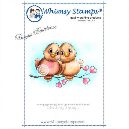 Whimsy Stamps Love Birds A1063