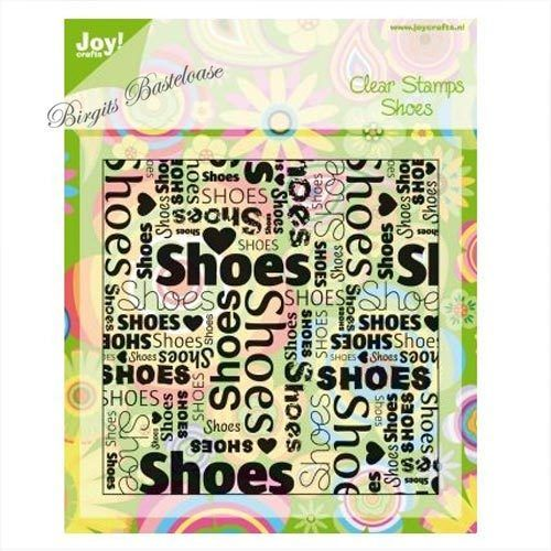 JoyCrafts Clear Stamps Shoes Hintergrundstempel Text 0028