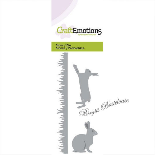 CraftEmotions Stanzschablone Gras Hase 115633/0141