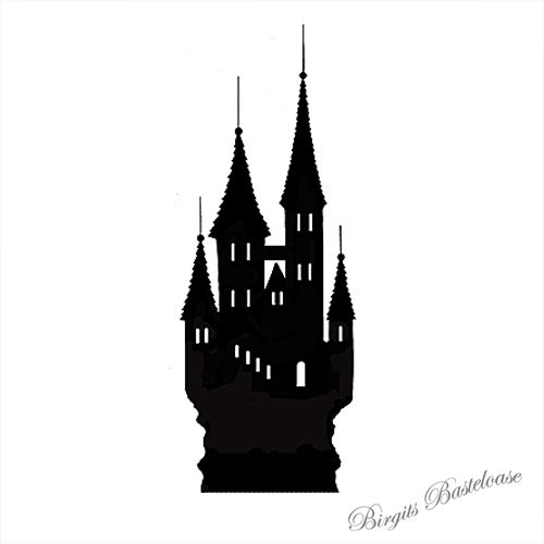 Lavinia Clear Stamps Silhouette Castle LAV087