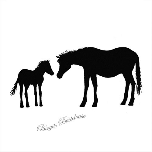 Lavinia Clear Stamps Horse and Foal LAV006