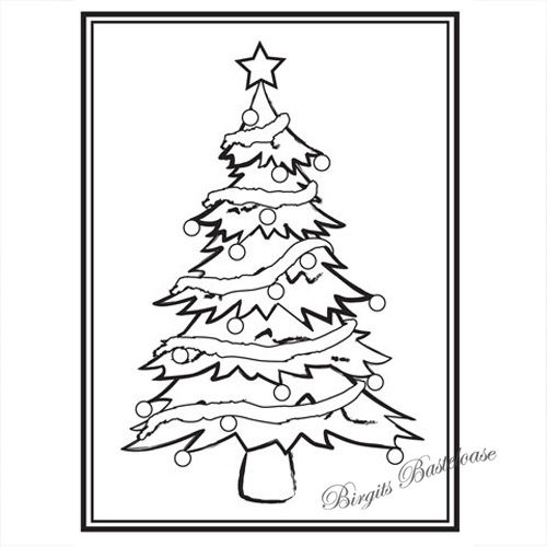 Embossing Folder Prägefolder Christmas Tree D-556