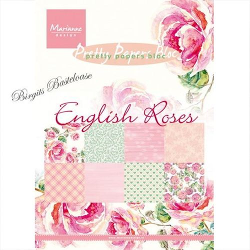 Marianne design Paper bloc A5 English roses PK9143