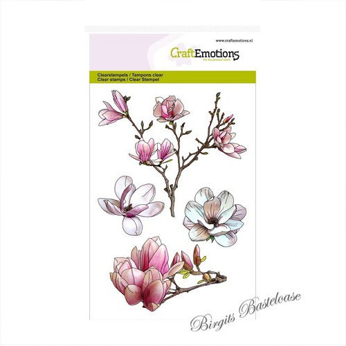 CraftEmotions Clear Stamps Magnolien - Magnolia 1249