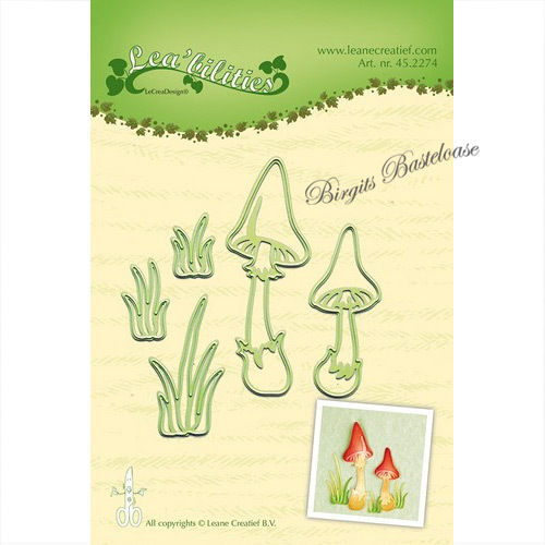 Leane Creatief Stanzschablonen Pilze Mushrooms 45.2274