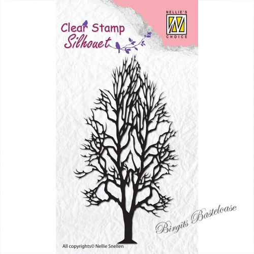 Nellie's Clear Stamp Baum - Tree 2 SIL008