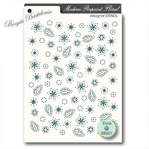 Memory Box Stencil Modern Pinpoint Floral 88601