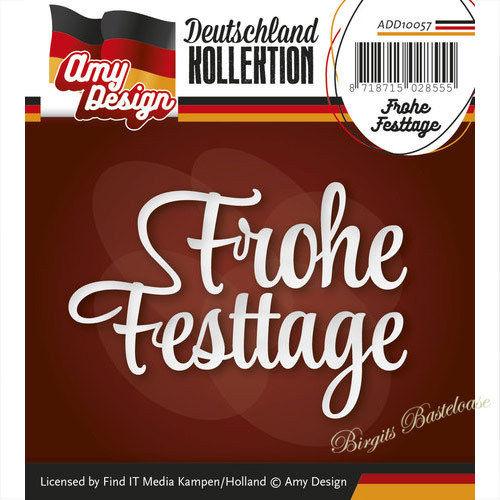 Amy Design Stanzschablone Frohe Festtage ADD10057