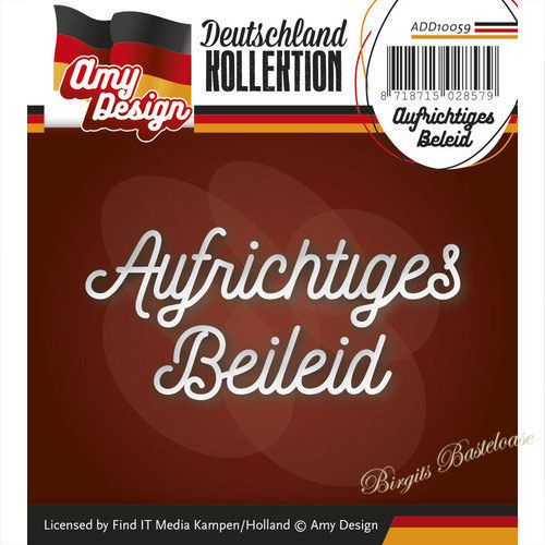 Amy Design Stanzschablone Aufrichtiges Beileid ADD10059