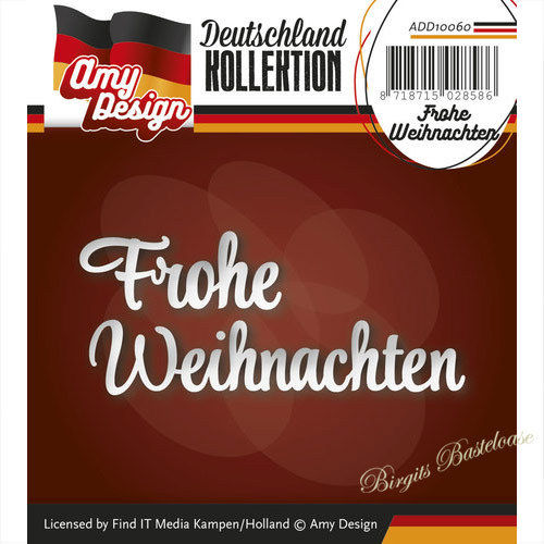 Amy Design Stanzschablone Frohe Weihnachten ADD10060