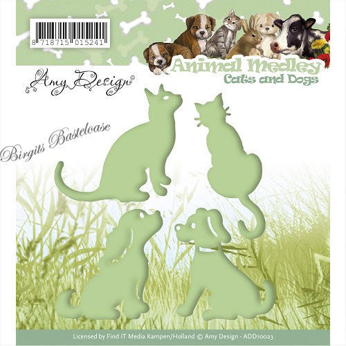 Amy Design Stanzschablone Katze Hund, Cats Dogs ADD10023