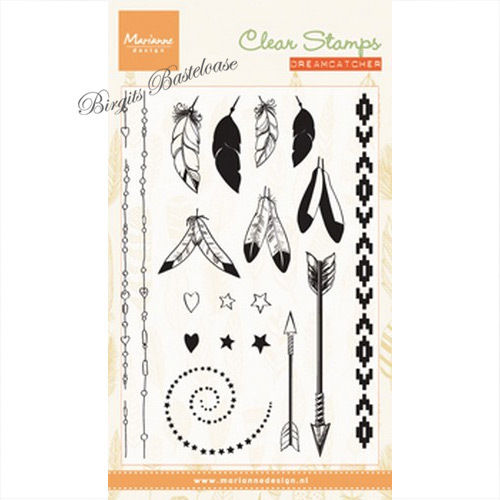 Marianne Design Clear Stamps Feathers Federn CS0990