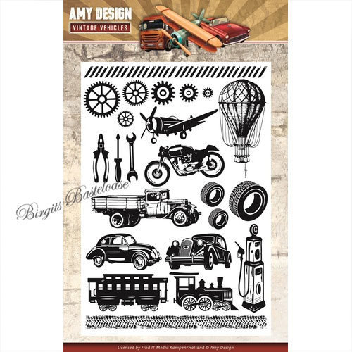 Amy Design Clear Stamps Vintage Vehicles Fahrzeuge ADCS10014