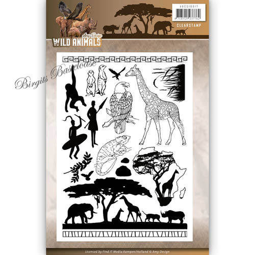 Amy Design Clear Stamps Wild Animals Tiere Afrika ADCS10017