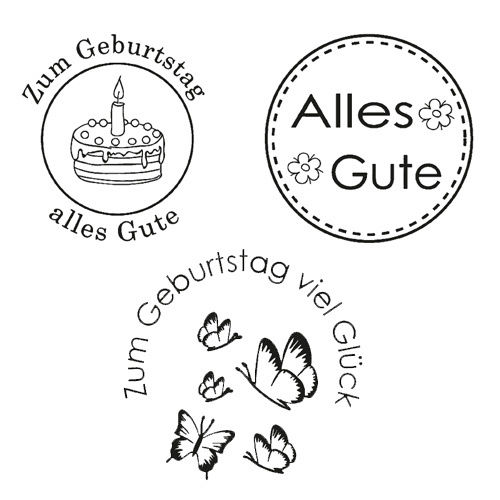 Efco Clear Stamps Alles Gute - 1222