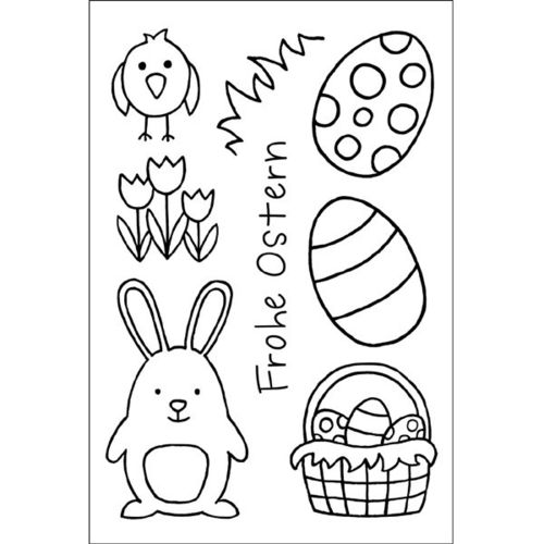Efco Clear Stamps Frohe Ostern - 1245