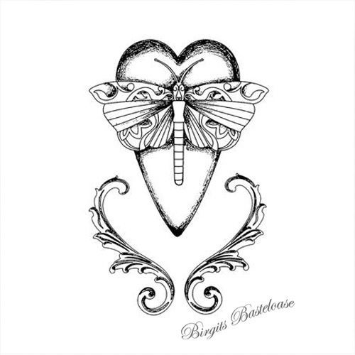 Stamperia Stempel Herz Dragonfly Heart WTKCC131