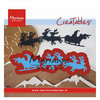 CreaTables Stanzschablone Weihnachtsmann Santa is coming LR0495