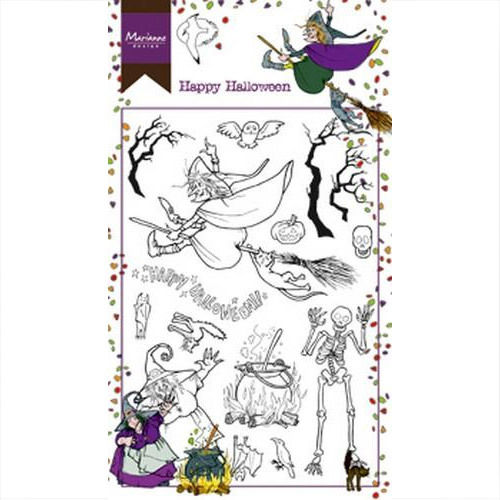 Marianne Design Clear Stamp Happy Halloween HT1626