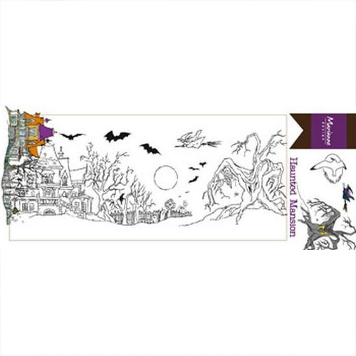 Marianne Design Clear Stamp Halloween Haunted Mansion HT1627