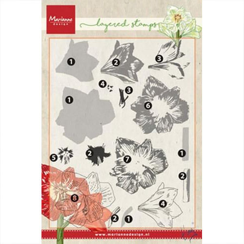 Marianne Design Clear Stamp Tiny's amaryllis TC0860