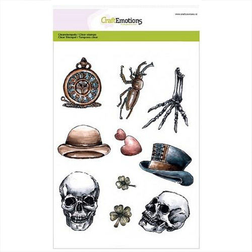 CraftEmotions Clear Stamps RusticArt - Lovely Skeletal 130501/3001