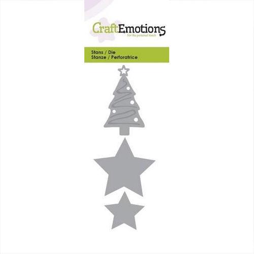 Sterne Für Weihnachtsbaum.Craftemotions Stanzschablone Weihnachtsbaum Sterne 115633 0121