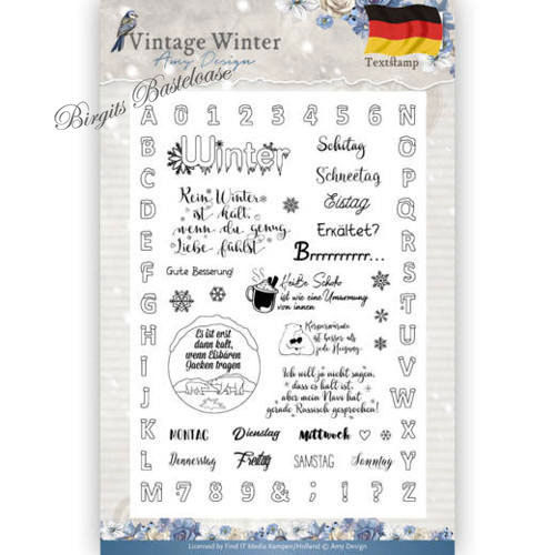Amy Design Clear Stamps Text Vintage Winter ADCS10024